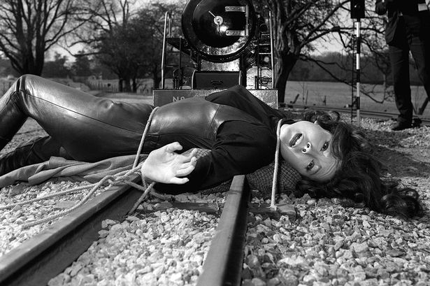 A-leather-clad-Diana-Rigg-as-Mrs-Emma-Peel-in-the-racy-scene-in-The-Avengers-that-brought-a-flood-of-complaints-in-1965